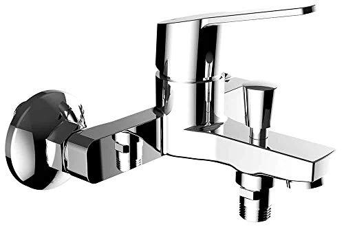 Clever 60529 Grifo de Baño Monomando N Panam Evo, Xtreme, Con accesorios, (flexo, soporte y telefono de ducha)