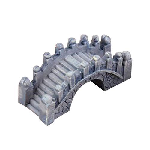 SUPVOX, Ponte ad Arco in Resina in Stile Cinese, Ponte in Miniatura per casa delle Bambole, Statua Decorativa da Giardino, Resina, Grigio, 5x2x2.5cm