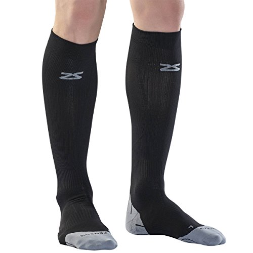 Zensah Compression Socks Black Medium