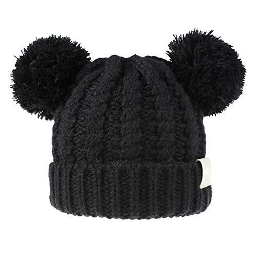 awhao Chapeau tricoté tricoté en Laine tricotée tricotée en Hiver avec Conception de Bonnets pour bébé Enfants Filles garçons Cadeau d'hiver pour Enfants Pretty Good