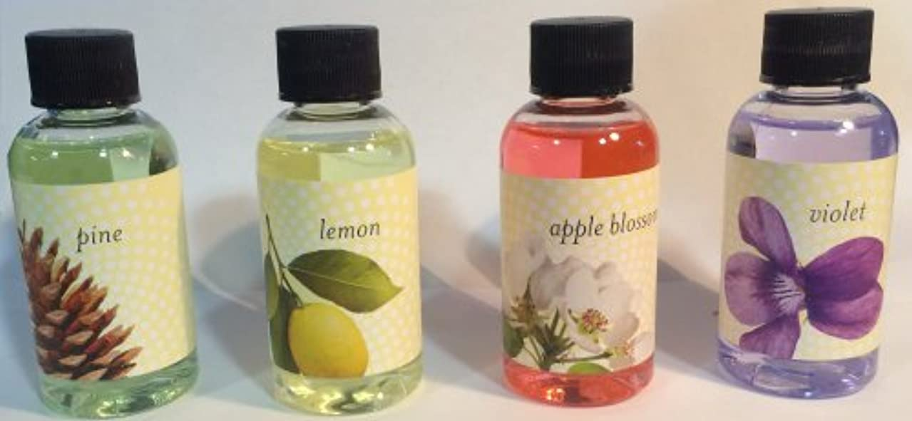 Rainbow Genuine (Apple, Lemon, Pine, Violet) Fragrance Collection Pack for Rainbow and RainMate