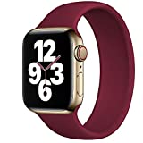 Strawberry Apple Pie - Solo Loop Strap Compatible with Apple Watch Bands 44mm 42mm Replacement Sport Silicone Wristband Men Women for iWatch Series 6/SE/5/4/3/2/1 40mm 38mm Plum 44mm/5