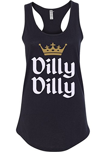 Mixtbrand Women's Dilly Dilly Gold Crown Racerback Tank Top M Black