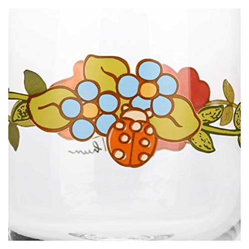 THUN - Set Calici Vino da 6 con Decorazione Floreale - Accessori Cucina - Linea Country - Vetro - 280 ml, 13 h cm