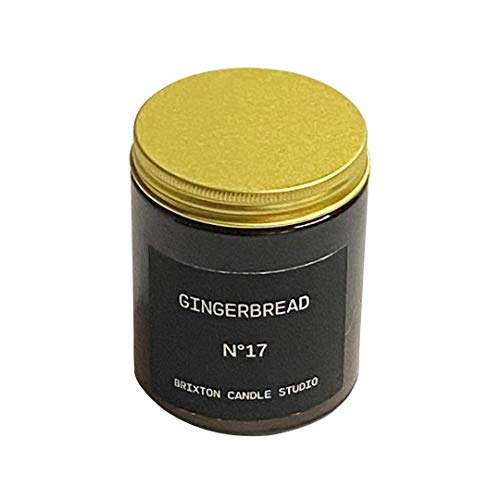 Gingerbread Soy Blend Wax Holiday, Brixton Candle Studio, Soy Wax Blend Candle, Scented Candle,Home Warming Gift,180g Jar, Hand Poured in the UK
