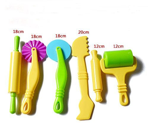 Carykon Clay and Dough Tools Kit for Kids - 6 Pieces - Assorted Colors
