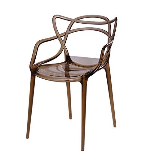 CJH Transparante Crystal Rugleuning Stoel Verdikt Kunststof Huishoudelijke Eettafel Kruk Nordic Stijl Comfortabele bureaustoel