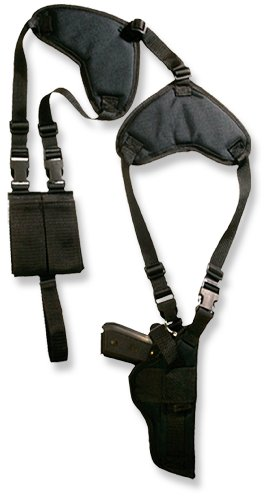 Bulldog Cases Deluxe Shoulder Harness with Holster and Ammo Pouch, Vertical (Fits Most Revolvers with 5 - 6 1/2-Inch Barrels, S & W K,L,N Frame)