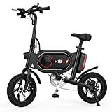 Hiboy P10 Electric Bike for Adults – 350W Powerful Hub Motor Up to 21.6 Miles and 15.5 MPH, Folding Electric Bicycle with 3 Riding Modes (Black)