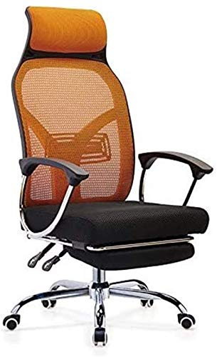 PULLEY Executive Swivel Office Chair Reclining Boss Chair, Mesh Breathable Manager Chair, Modern Stylish Executive Chair, Swivel Lift Office Chair (Color : Orangebackblackseat)