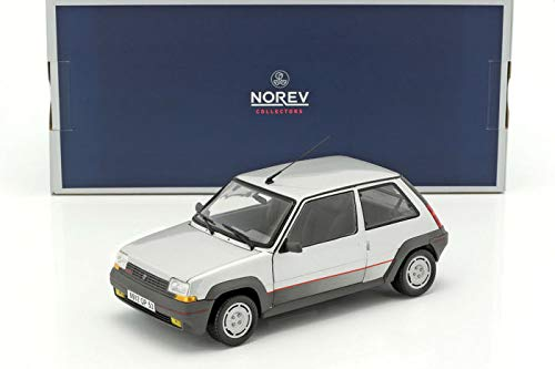 Norev – Renault 5 GT Turbo Fase 1 – 1985 – Scala 1/18, 185209, Argento