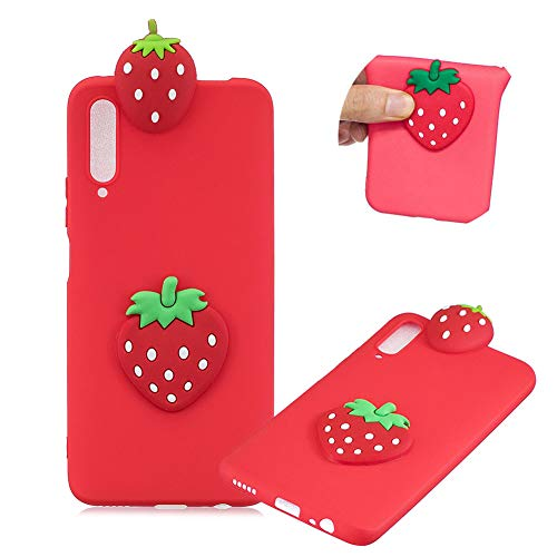 Lowest Prices! Soft TPU Case for Huawei Honor 9X Pro,Moiky Funny Cute 3D Cartoon Strawberry Ultra Thin Silicone Shockproof Phone Case Back Protective Cover