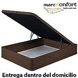 marckonfort Canapé abatible 90X190 de Gran Capacidad con Esquinas Redondeadas en Madera, Base...
