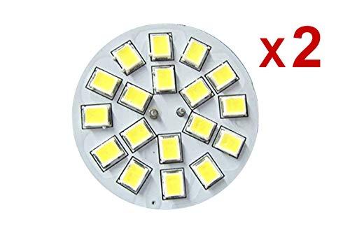 LEDLUX 2x G4 LED-lamp dubbele pin DC 12V 24V 3W warm wit 3000K centrale sokkel 18 SMD 2835