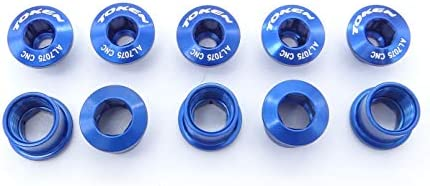 Token Chainset Hex Bolts Blue