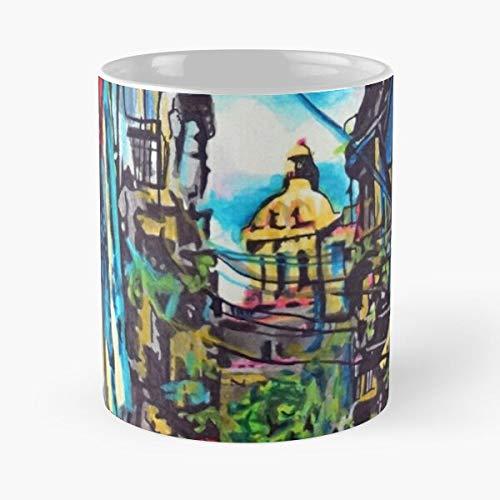 Woman Havana Smoke Portrait Island Cuba Cuban Carribean Eat Food Bite John Best - Taza de café de cerámica Blanca, 11 onzas, Onza