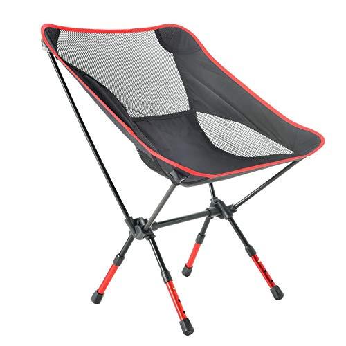 FGGTMO Highlander Pliant Camp Chaise, Petit Pliable Pliable Packable Sac à Dos léger Chaise, Idéal for extérieur, Randonnée pédestre, Pêche, Plage, Festivals (Color : A, Size : 59 * 52 * 64cm)