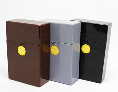 LK Trend & Style Zigarettenbox Kunststoff Zigarettenetui Berlin Box für Zigaretten Gr. L (grau)