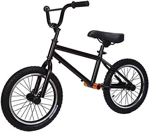 MLL Bicicleta de Equilibrio, Bicicleta de Equilibrio para niños Grandes con Rueda de Aire de 16 Pulgadas, Asiento y Manillar Ajustables, sin Pedales Bicicleta de Marco de Acero Ligero