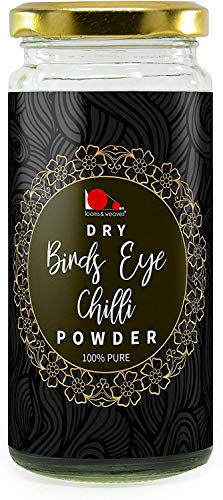 Glamorous Hub teje y teje Dry Bird Eye Chilli Powder 100 g