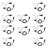 Covert Acoustic Tube Two Wire Earpiece Headset Mic PTT for Motorola Radio XPR3500 XPR3000 XPR3300 XPR3300e XPR3500e walkie Talkie 10 Pack by Klykon