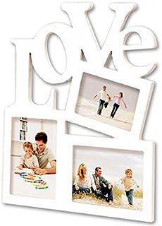 3枚 飾れる かわいい LOVE デザイン フォト フレーム 25.3×29.5cm インテリア 雑貨 壁 掛け スタンド プレゼント ギフト に おすすめ