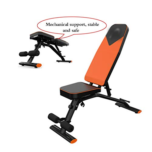 Multifunctional Dumbbell Benches Seats SitUp Stools for the home Abdominal Fitness Equipment Multifunctional Benches Banks Color Orange Size 97 * 405 * 45cm