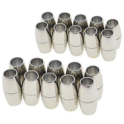 sharprepublic 20 Sätze Lederkleber In 5 / 6mm Rohr Magnetverschlüsse Schmuckzubehör