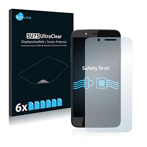 Savvies 6X Schutzfolie kompatibel mit Archos 55 Helium 4 Seasons Bildschirmschutz-Folie Ultra-transparent