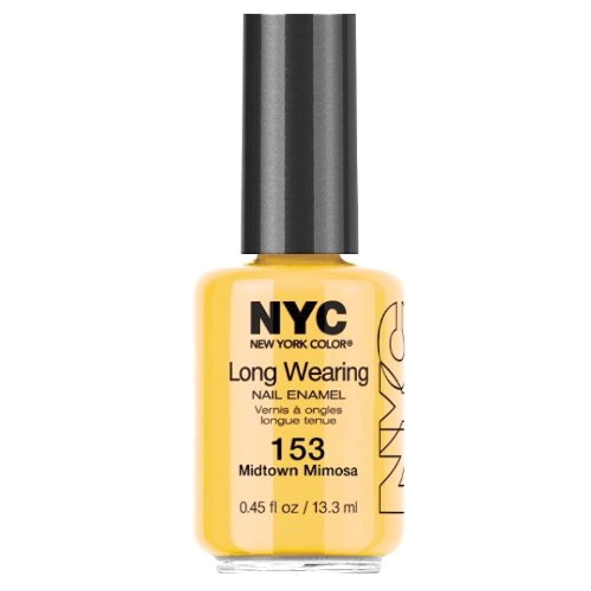 水陸両用軌道休眠(6 Pack) NYC Long Wearing Nail Enamel - Midtown Mimosa (並行輸入品)