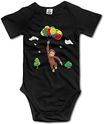 RTGreat Baby Onesie Curious George Balloon Bee Vintage Baby Bodysuit Body bébé