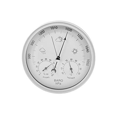 KEIBODETRD 3 in 1 Stazione meteorologica Diametro 13 cm, termometro igrometro barometro umidità Tester Meteo previsioni Marine misuratore di Pressione