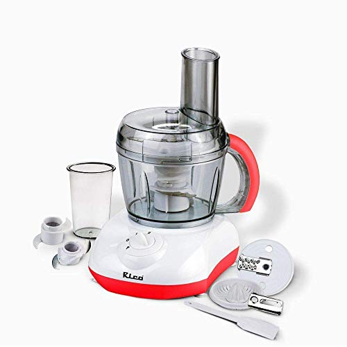 Rico Multifunction Food Processor/Atta Kneader/Citrus Juicer with 800 ml Capacity Bowl for Kneading, Chopping, Slicing and Shredding (White, 400 Watts)