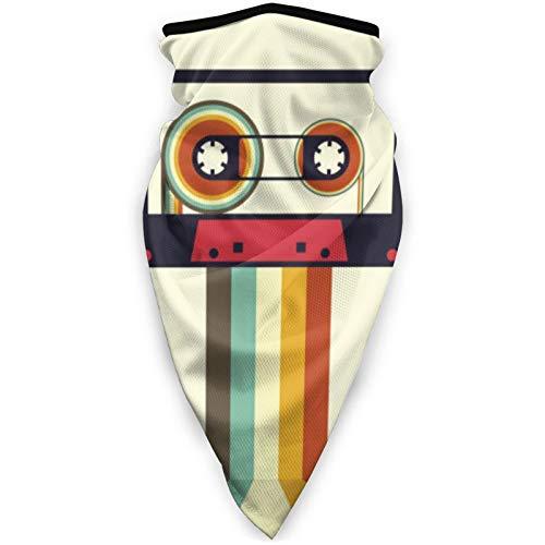 BEHDIJ Pasamontañas Máscara de deportes a prueba de viento bufanda sombrero para mujeres hombres al aire libre cómodo y transpirable cuello polaina diadema bufanda cinta cassette retro vintage