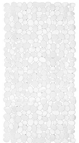 Circul Alfombrilla para bañera (70 x 35 cm), diseño de piedra, transparente