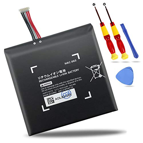 NATNO HAC-003 Internal Battery Pack Replacement for Nintendo Switch 2017/2019 Game Console HAC-001 [3.7V 4310mAh 16Wh]