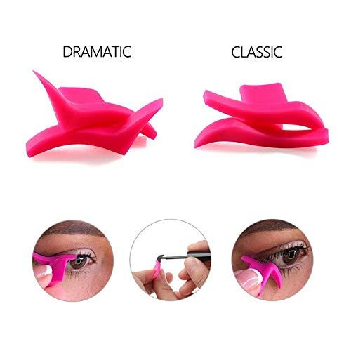 Emilyisky Plantilla delineador de Ojos Modelos de Plantillas Maquillaje Profesional ala Gatito Gran tamaño Ojo de Gato ala Eyeliner Sellos Rosa Moda