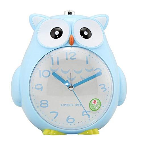 XYBB Wekker Leuke Uil Alarm Klok Voor Student Kinderen Bed Snooze Functie Klok Zachte Nacht Licht Kids Alarm Klok