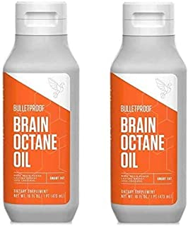 Bulletproof Brain Octane C8 MCT Oil from Coconut Oil, 16 Fl Oz Each, Provides Mental and Physical Energy, K...