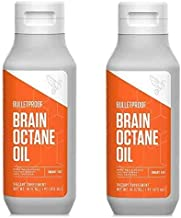 Bulletproof Brain Octane C8 MCT Oil from Coconut Oil, 16 Fl Oz Each, Provides Mental and Physical Energy, Keto and Paleo F...