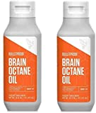 Bulletproof Brain Octane C8 MCT Oil from Coconut Oil Provides Mental and Physical Energy, Keto and Paleo Friendly, 16 Fl. Oz. Each, 2 Pack
