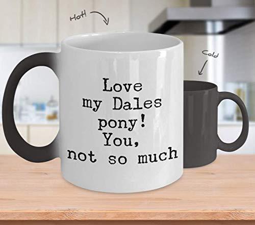 Dales Pony Pferd, große Farbwechsel-Kaffeetasse, Geschenkidee für Frauen, Partner, Gag Geschenke für Pferde, Lehrer, Rennen