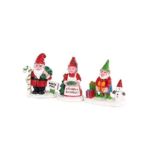 Lemax Village Collection Christmas Garden Gnomes, Set of 3#02941