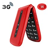 Ushining 3G Flip Phone Unlocked SOS Button Dual Cards Standby Flip Phones Unlocked