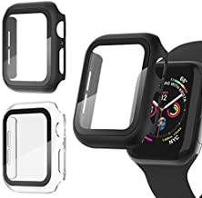 Recoppa 3 Pack Apple Watch case with Screen Protector for Apple Watch 42mm Series 3/2/1, Full Hard Cover Ultra-Thin Bumper HD Clear Protective Film Scratch Resistant for Women Men iWatch