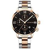 Bokeley Fashion Quartz Clock Men'sWatches Top Brand Luxury Waterproof Business Watch Chronograph Stainless Steel Watch (F)