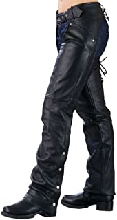 Milwaukee Leathter Ladies Biker Chaps With Laces On The Back
