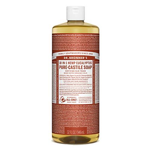 Magia Jabones del Dr. Bronner Pure-jabón de castilla, 18-in-1 del cáñamo de eucalipto, de 32 onzas