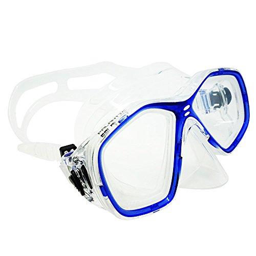 Palantic Azul Buceo/Snorkeling Jr, máscara de Buceo con RX Lentes graduadas