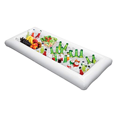 Opblaasbaar Buffet Serveren & Salade Bar Ijsemmers Voedsel Koeler Opblaasbaar Bier Drink Tray, Voedsel Drankjes Houder BBQ Picknick Zwembad, met Drain Plug Pack of 1